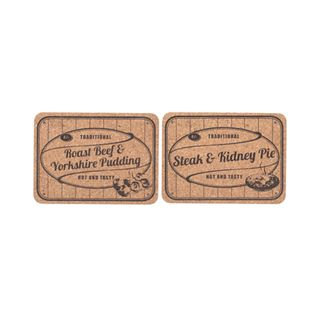 CORK TABLE MATS STEAK N KIDNEY