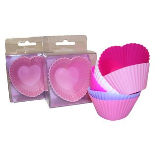 SILICONE MUFFIN CASES HEART SHAPE (3)