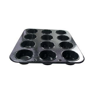 FALCON MUFFIN TIN 12 CUP BLACK SPECKLED