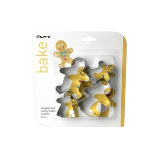 GINGERBREAD FAMILY COOKIE CUTTER SET (6)