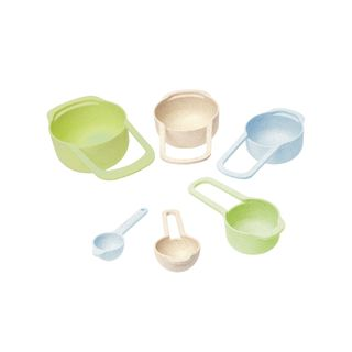 WHEATFIBRE MEASURING CUP & SPOON ASSORTED COLOURS (6)