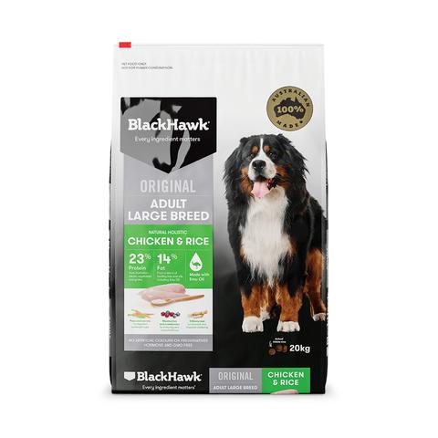 BLACKHAWK Dog Adult Large Breed Chicken/Rice 20kg