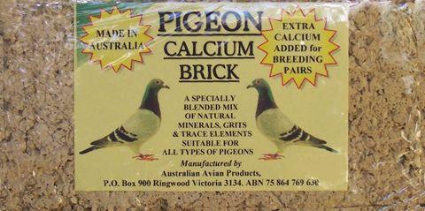 Pigeon Calcuim Bricks 625gm Yellow