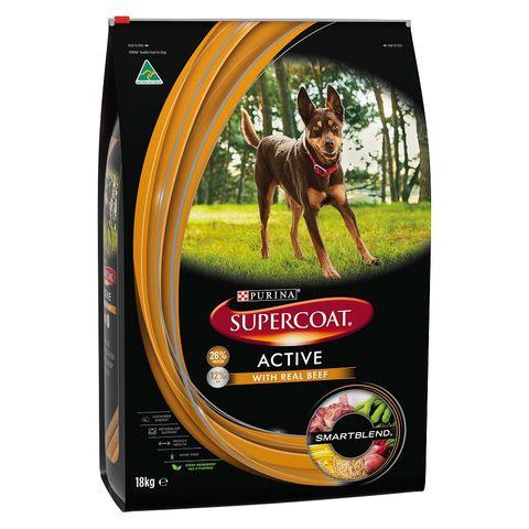 SUPERCOAT Adult Dog Active Beef 18kg