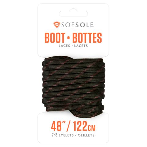 Sof Sole Boot 48 Laces BLK/TAN r