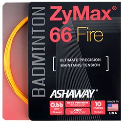 Ashaway ZyMax 66 Fire Orange Badminton String Set 10m