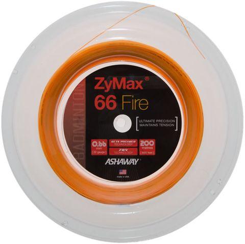 Ashaway ZyMax 66 Fire Orange Badminton String Reel 200m
