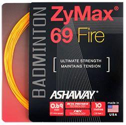 Ashaway ZyMax 69 Fire Orange Badminton String Set 10m