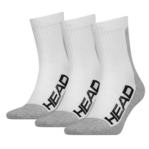 HEAD Sock Performance Crew WHT 4-6US