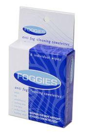 Foggies Individual Towlettes 6 Pack Hanging POP