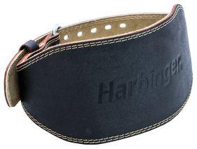 """Harbinger 6"""" Padded Leather Lifting Belt Black XLarge"""