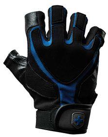 Harbinger Men's Training Grip Gloves Blk/Blu Large