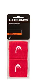"""20-HEAD Wristband 2.5"""" Red 2 Pack"""