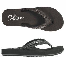 Cobian Sandal Braided Bounce - Black Womens US6