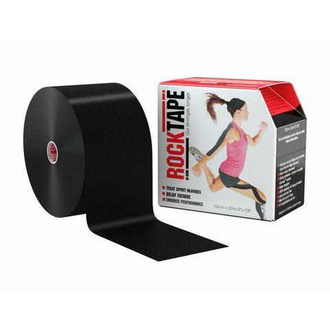 Rocktape BD Plain Black 10cm x 32mtr Practitioner Roll