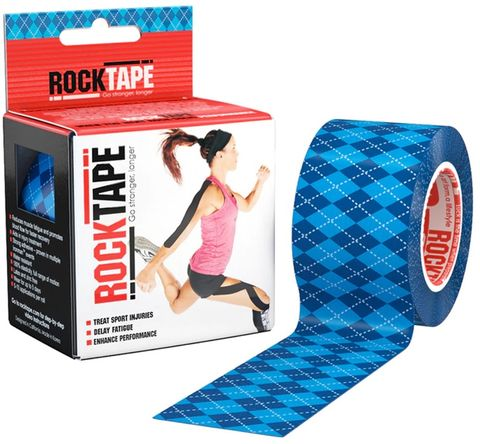 Rocktape Argyle Blue Pattern 5cm x 5mtr Roll c