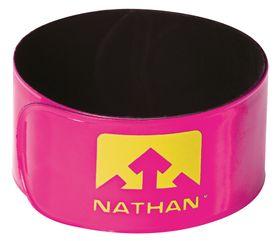 Nathan Reflex Snap Bands pair Hi-Viz Pink