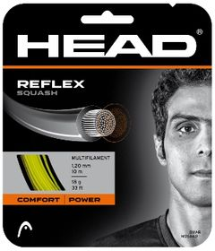 HEAD Reflex 18g Squash String 10m Set Yellow