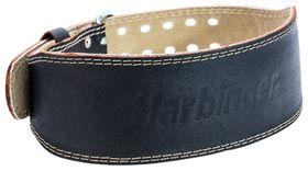 "4"" Padded Leather Lifting Belt Black"