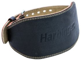 "6"" Padded Leather Lifting Belt Black"