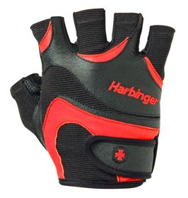Harbinger Men's FlexFit Wash&Dry Gloves Blk/Red Large r