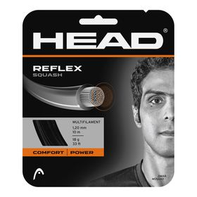 HEAD Reflex 18g Squash String 10m Set Black
