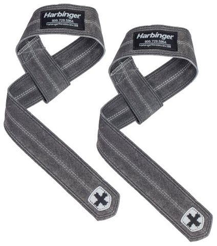 Harbinger Leather Lifting Straps Black Uni Size