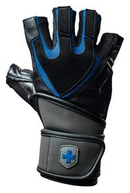Training Grip Wristwrap Gloves Blk/Blu