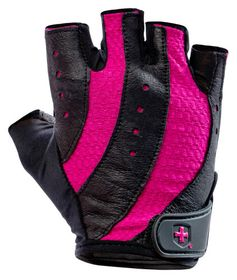 Harbinger Women's Pro Wash&Dry Gloves Blk/Pnk Large r