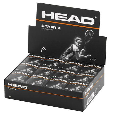 HEAD Start White Dot Squash Ball Dozen