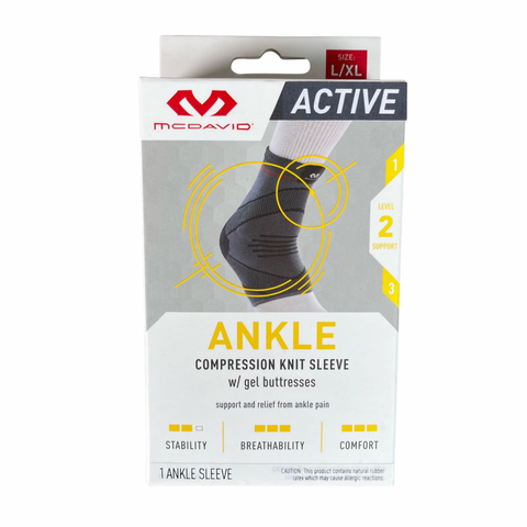McDavid Active Comp Knit Ankle Sleeve w/ gel buttress