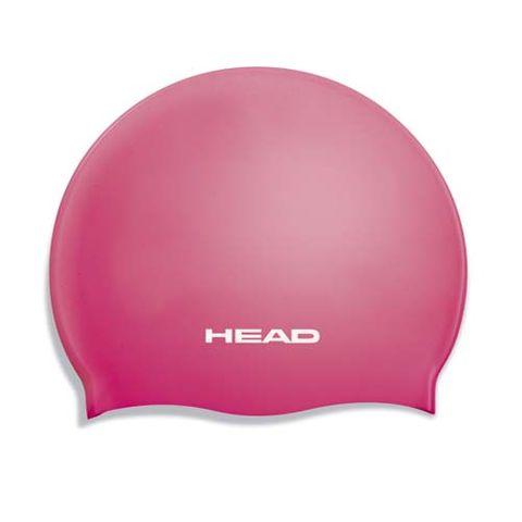 Head Swim Cap Silicone Flat Jnr Fucsia***