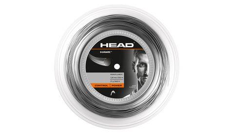 HEAD Hawk 17g/1.25mm Tennis String 200m Reel Grey