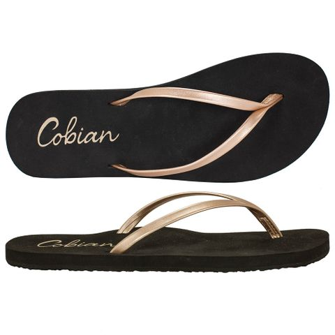 Cobian Sandal Shimmer - Rose Gold Womens