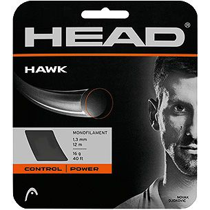 HEAD Hawk 17g/1.25mm Tennis String 12m Set Black