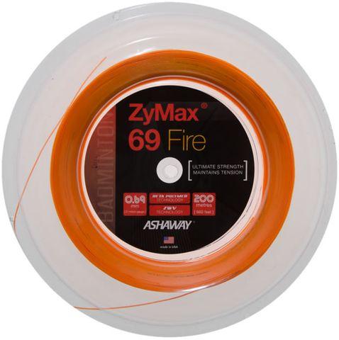 Ashaway ZyMax 69 Fire Orange Badminton String Reel 200m