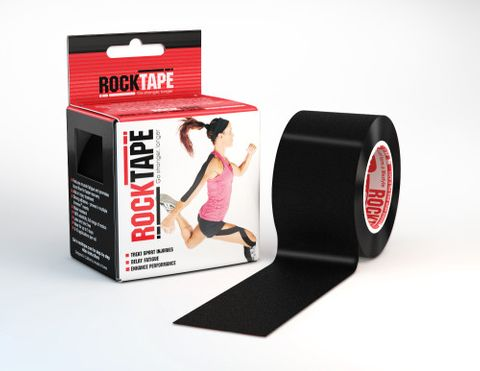 Rocktape Plain Black 5cm x 5mtr Roll ct