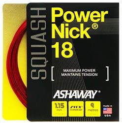 Ashaway PowerNick 18g Red Squash String Set 9m