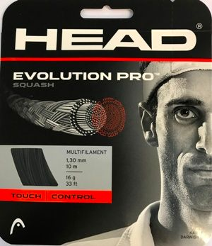 HEAD Evolution Pro 16g Squash String 10m Set BLK