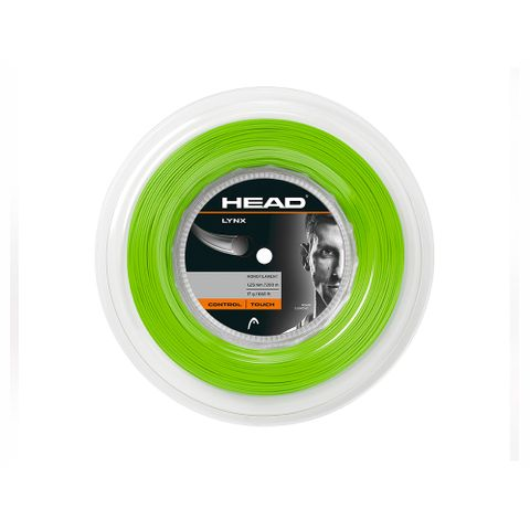 HEAD Lynx 17g/1.25mm Tennis String 200m Reel Neon Green