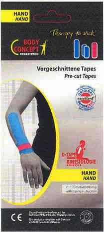 Pre Cut Kineisio D-Tape set for Wrists***
