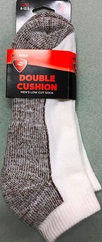Sof Sole Double Cushion Low Cut Sock 2pr M8-12.5 WHT***