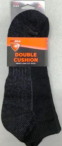 Sof Sole Double Cushion Low Cut Sock 2pr M8-12.5 BLK***