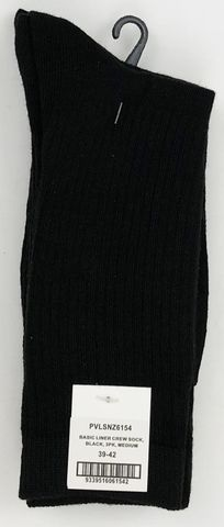 Dress Crew Sock Black