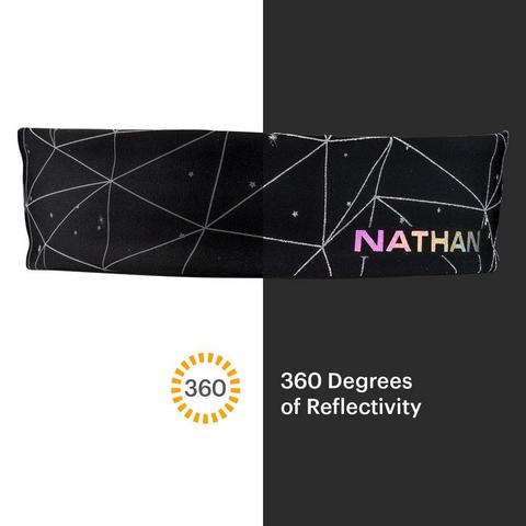 Nathan SS20 Hypernight Reflective Hairband Black Topo***