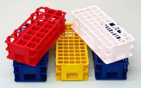 Test tube rack PP 24 x 25mm diam Blue