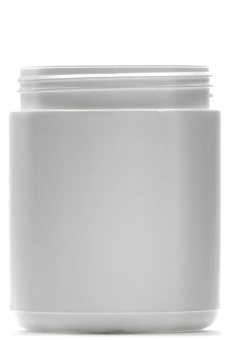 Jar round HDPE s/cap w/m white 500ml