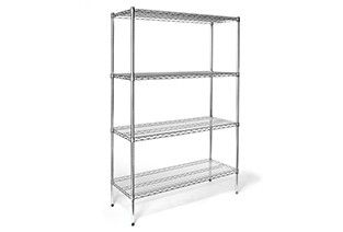Shelf unit static 4 shelf 46x15.2x160cm