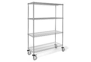 Shelf unit mobile 4 shelf 46x15.2x176cm