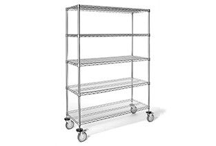 Shelf unit mobile 5 shelf 46x15.2x176cm